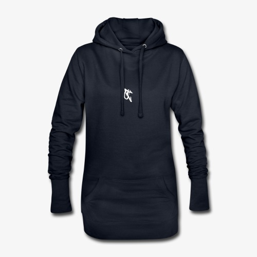 OT logo 1 white - Hoodie Dress