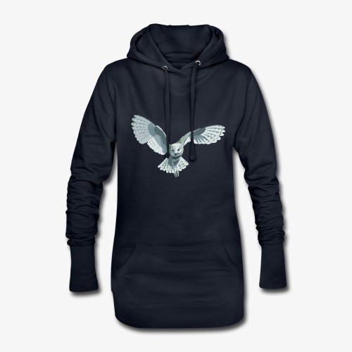 barn owl - Hoodie-Kleid