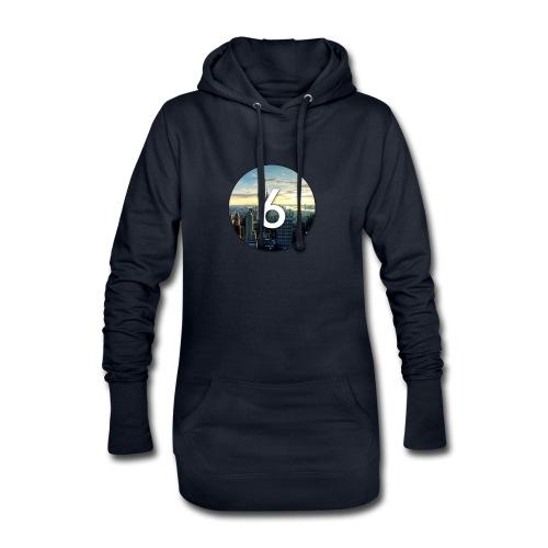 6 city - Sweat-shirt à capuche long Femme