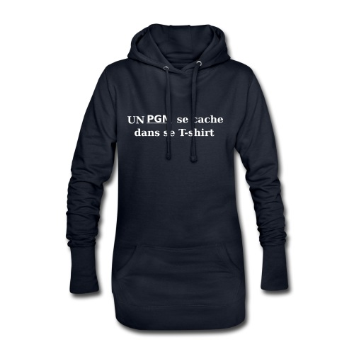 T-shirt gamer Un PGM se cache dans se T-shirt - Sweat-shirt à capuche long Femme