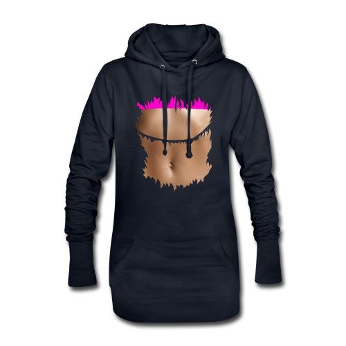 t shirt ventre plat brassiere rose - Sweat-shirt à capuche long Femme