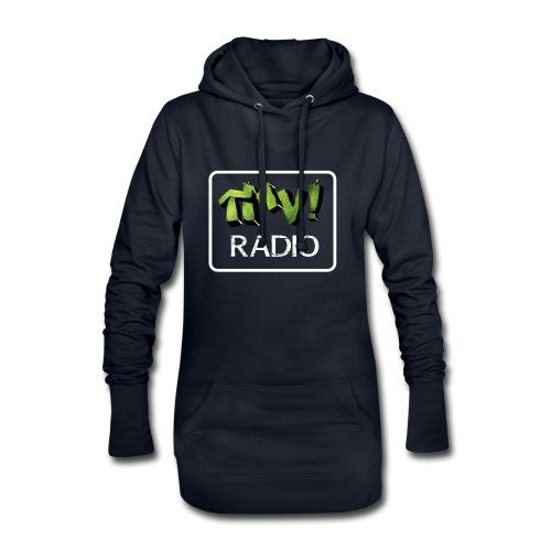 TMV RADIO logo bianco - Vestitino con cappuccio