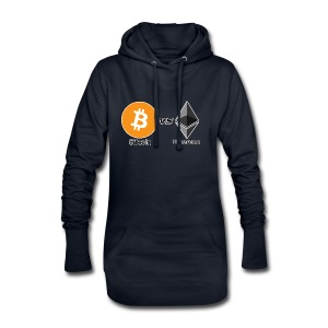 Bitcoin vs ethereum withe ok - Hoodie Dress