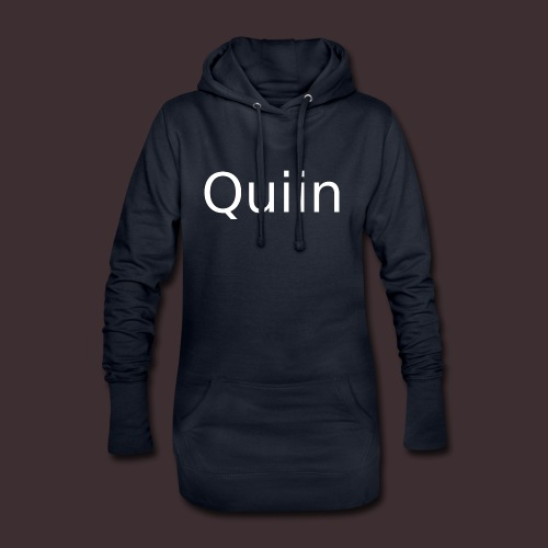 White_Quiin_outline - Hoodie-Kleid
