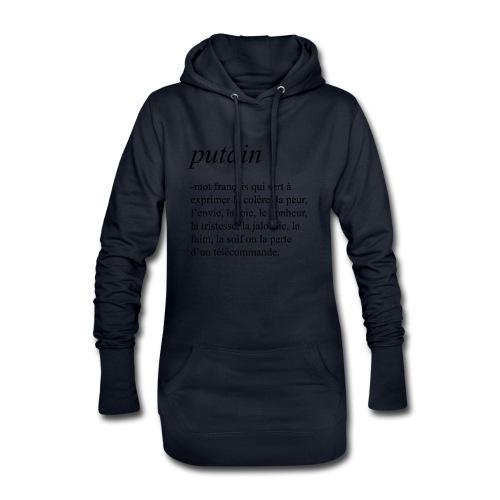 Putain - Sweat-shirt à capuche long Femme