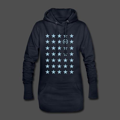 gwiazda - Długa bluza z kapturem