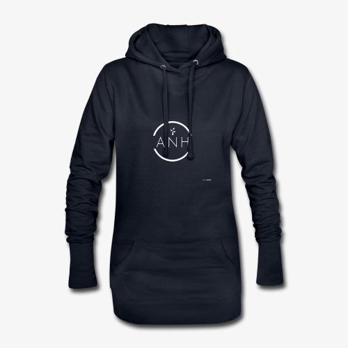 ANH white logo - Hoodie Dress