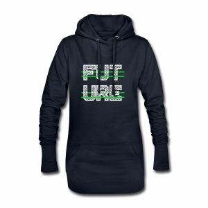 Future Clothing - Green Strips (White Text) - Hoodie Dress