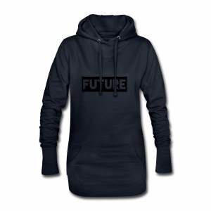 Future Clothing - Text Rectangle (Black) - Hoodie Dress