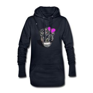 Tête de mort mexicaine 3D - Sweat-shirt à capuche long Femme
