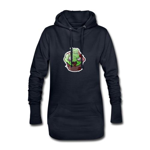 Cupake zombie couleur - Sweat-shirt à capuche long Femme
