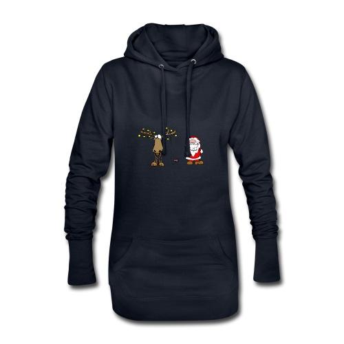 noel branché - Sweat-shirt à capuche long Femme