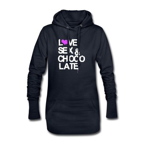 Love, Sex & Chocolate - Hoodie-Kleid