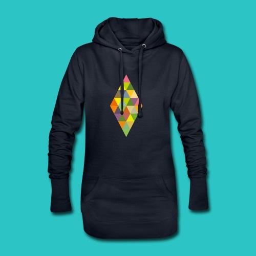 Rhombus - Hoodie-Kleid