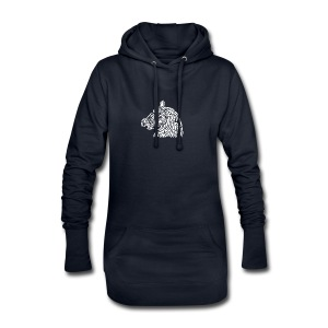 horse - cheval blanc - Sweat-shirt à capuche long Femme