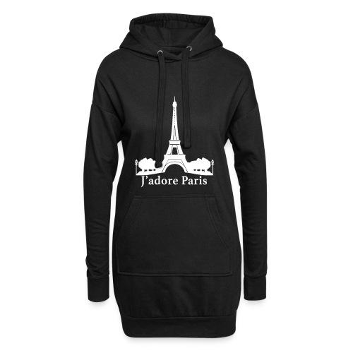 Design j'adore paris ma ville - Sweat-shirt à capuche long Femme