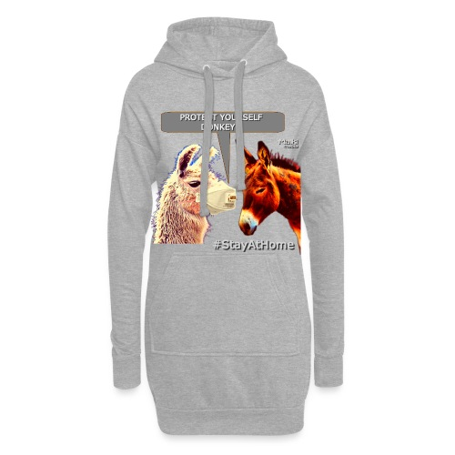 Protect Yourself Donkey - Coronavirus - Sweat-shirt à capuche long Femme