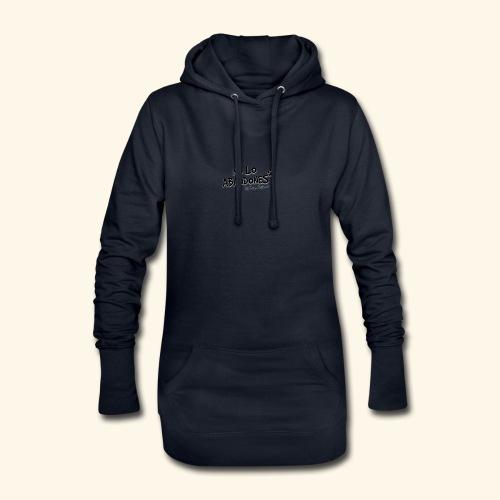 noloabandones negro - Sudadera vestido con capucha