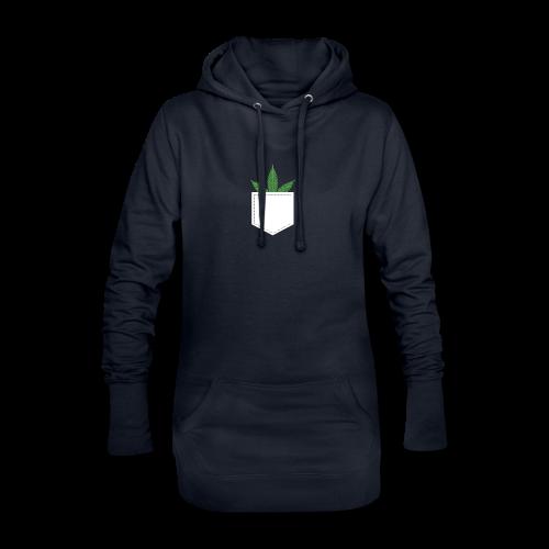 Brusttasche mit Marihuana / Cannabisblatt - Hoodie-Kleid