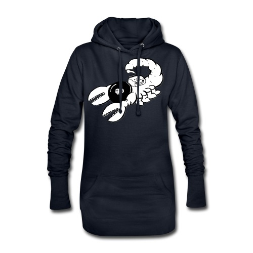 Space Scorpions?! (Black and White) - Hoodie Dress