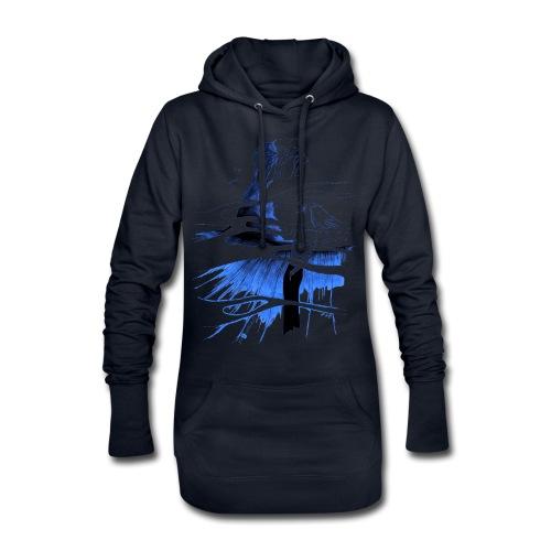 Ein Ort (blau) - Hoodie-Kleid