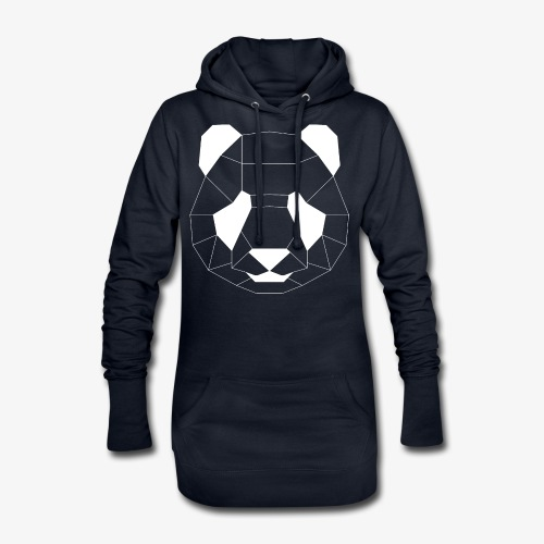Panda Geometrisch weiss - Hoodie-Kleid