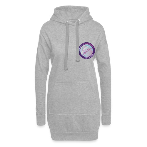 Logo poledance violet - Sweat-shirt à capuche long Femme