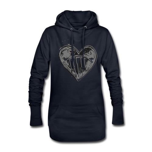 Corazón Negro - Sudadera vestido con capucha