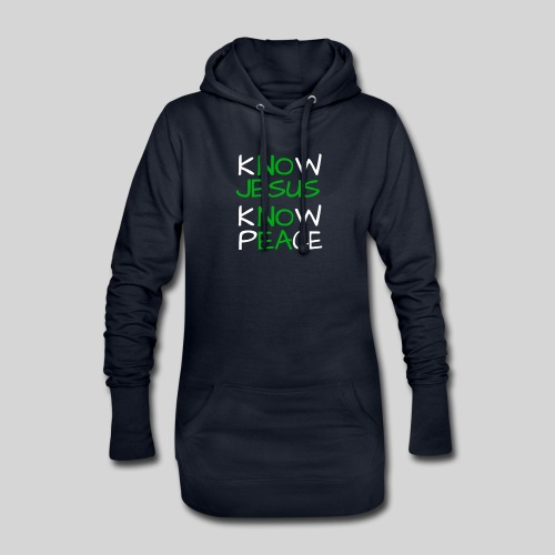 know Jesus know Peace - kenne Jesus kenne Frieden - Hoodie-Kleid