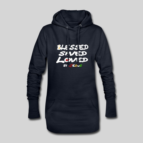 Blessed Saved Loved by Jesus - Hoodie-Kleid