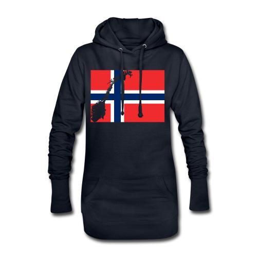 Norges Flagg - Hoodie-Kleid