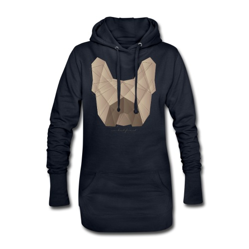 Geometric Frenchie fawn - Französische Bulldogge - Hoodie-Kleid