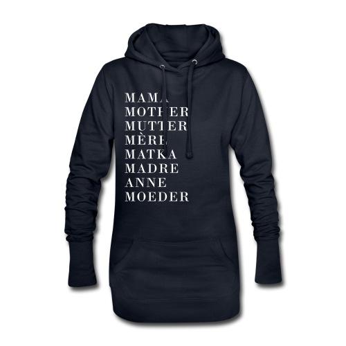 Mutter International in verschiedenen Sprachen - Hoodie-Kleid