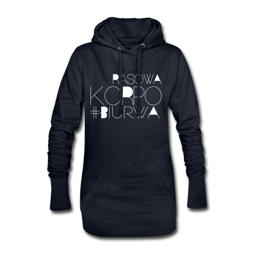 Rasowa Korpo Biurwa BLACK - Długa bluza z kapturem