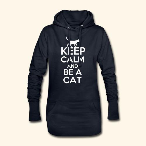 Keep Calm Katzen T-Shirt Englisch - Hoodie-Kleid
