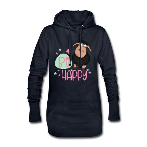 Schwarzes Schaf - be happy Schaf Glückliches Schaf - Hoodie-Kleid