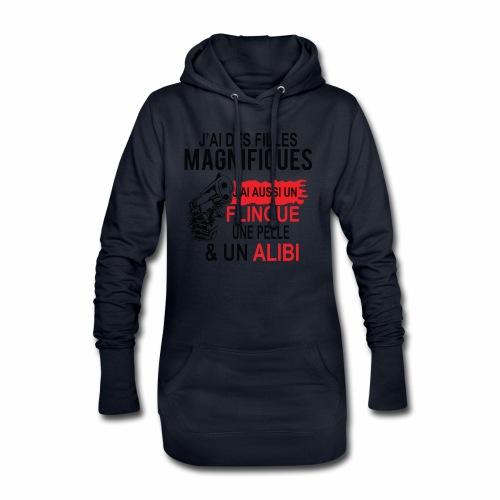 J'AI DEUX FILLES MAGNIFIQUES Best t-shirts 25% - Sweat-shirt à capuche long Femme
