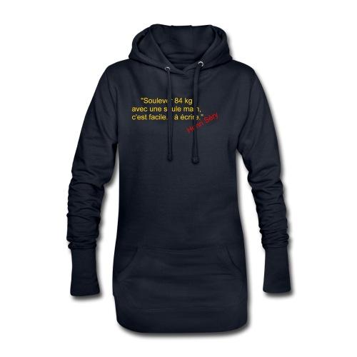 La Méthode Française humour 2 recto - Sweat-shirt à capuche long Femme
