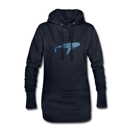 Whale shark - Sweat-shirt à capuche long Femme