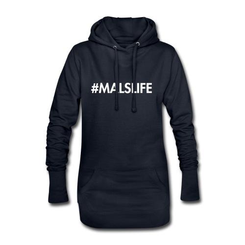 #MALSLIFE vrouwen - zwart - Hoodiejurk