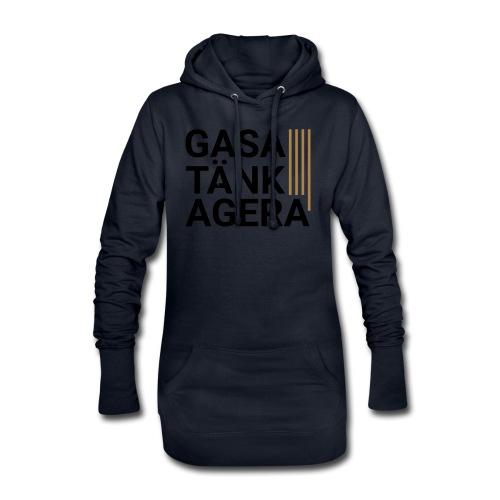 T-shirt för inspiration. Gasa-Tänk-Agera - Luvklänning