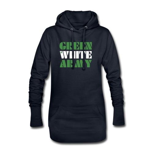 GREEN & WHITE ARMY - Hoodie Dress