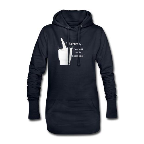 Logo Sprème - Sweat-shirt à capuche long Femme