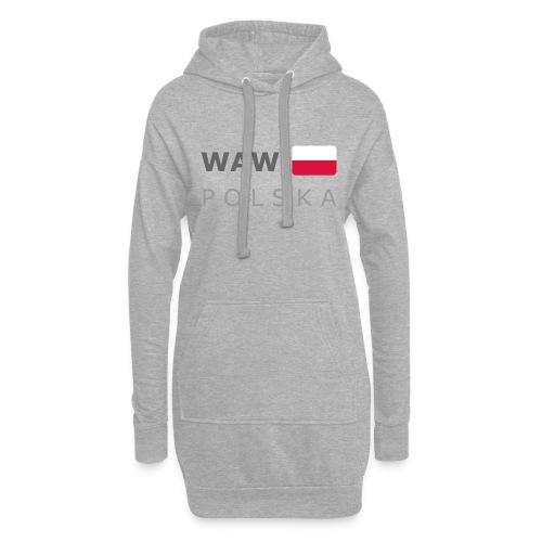 WAW POLSKA dark-lettered 400 dpi - Hoodie Dress