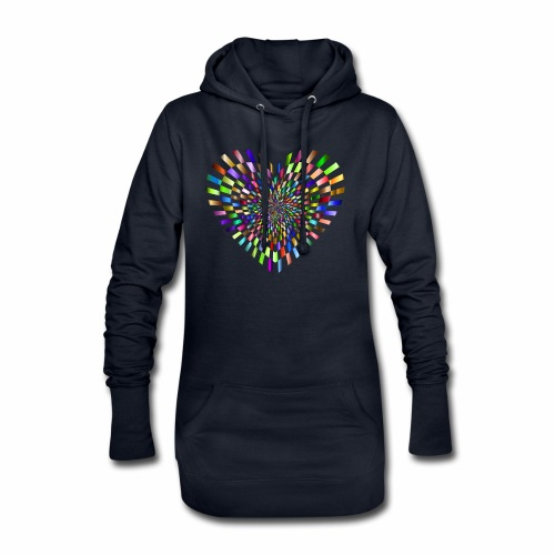 illusion heart colour - Hoodie Dress