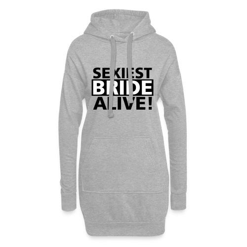 sexiest bride alive - Hoodie-Kleid