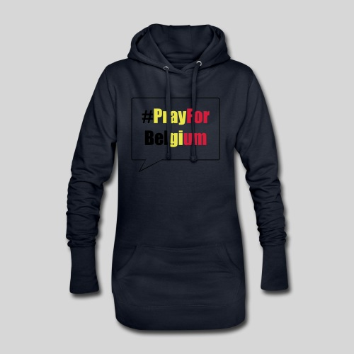 #PrayForBelgium - Sweat-shirt à capuche long Femme