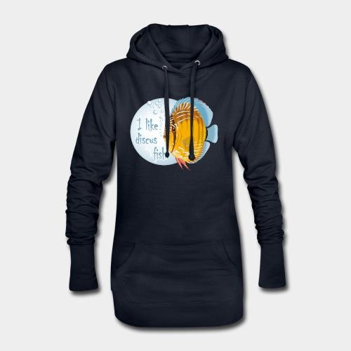 GHB Ich liebe Diskusfische 06112017 1 - Hoodie-Kleid