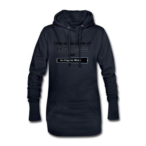 I_LIVE_AT_THE_CORNER_CUT_-2- - Hoodie Dress