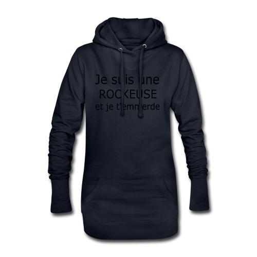Rockeuse - Sweat-shirt à capuche long Femme